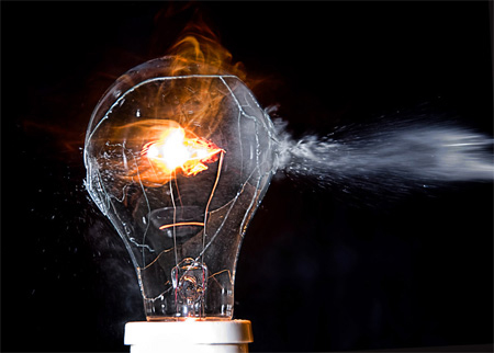 Light Bulbs Come On Over Danger Of Lights Out