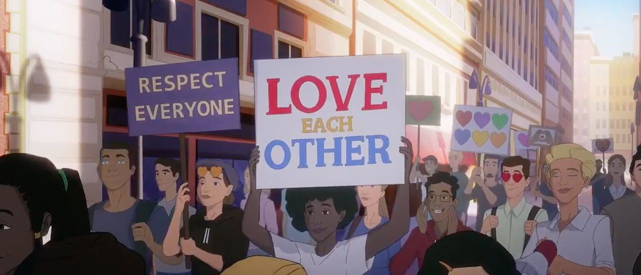 US Army Releases Cartoon Recruitment Ad That Features LGBTQ March And Lesbian Wedding